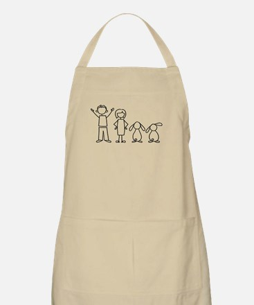 2 lop bunnies family Apron