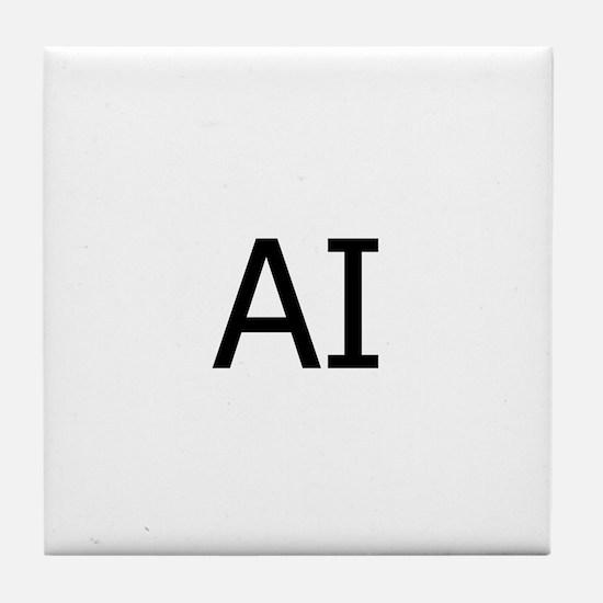 AI Assateague Island Logo Tile Coaster