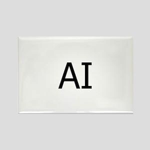 AI Assateague Island Logo Rectangle Magnet
