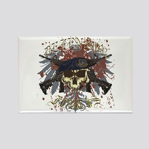 Security Forces Skull Urban I Rectangle Magnet