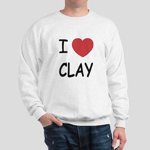 I heart clay Sweatshirt