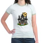 Halloween Haunted House Ghosts Jr. Ringer T-Shirt