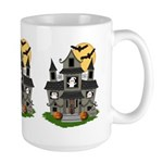Halloween Haunted House Ghosts Large Mug