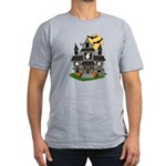 Halloween Haunted House Ghosts Men's Fitted T-Shir