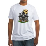 Halloween Haunted House Ghosts Fitted T-Shirt