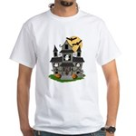 Halloween Haunted House Ghosts White T-Shirt