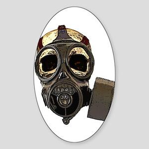 BioSkull Mask Sticker (Oval)