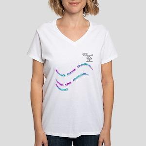 Fashionable tennis Women's V-Neck T-Shirt