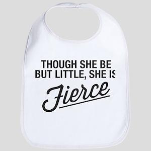 She Is Fierce Baby Bib