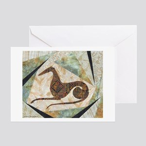 Tribal Greyhound Greeting Card
