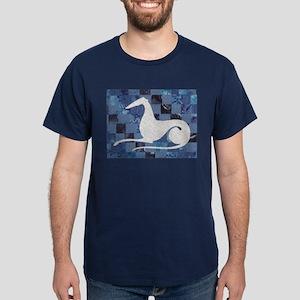 White on Blue Dark T-Shirt