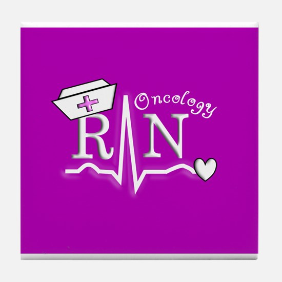 Cute Oncology rn Tile Coaster