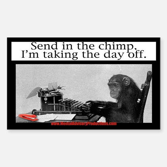 Office Chimp Decal