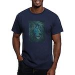 Divine Lion Men's Fitted T-Shirt (dark)