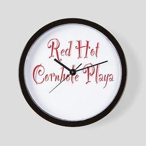 Red Hot Cornhole Playa Wall Clock