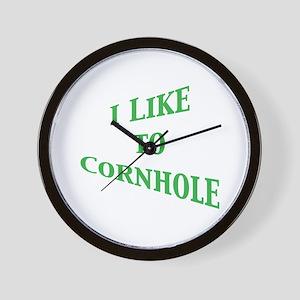 I Like To Cornhole Wall Clock