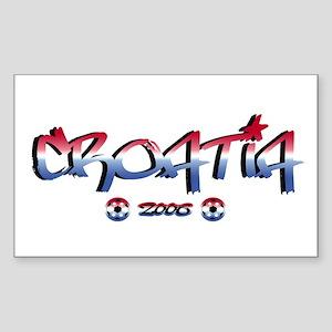 Croatia Soccer Flag Rectangle Sticker