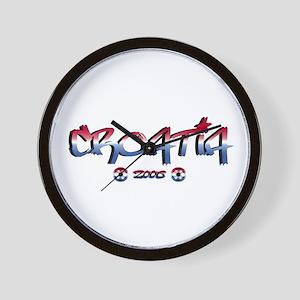 Croatia Soccer Flag Wall Clock