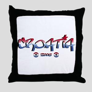 Croatia Soccer Flag Throw Pillow