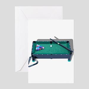 Pool Table Greeting Card