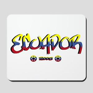 Ecuador Soccer Flag Mousepad