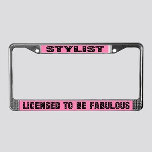 Fabulous Stylist License Plate Frame Gift