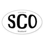 Scotland Rounded Oval Sticker
