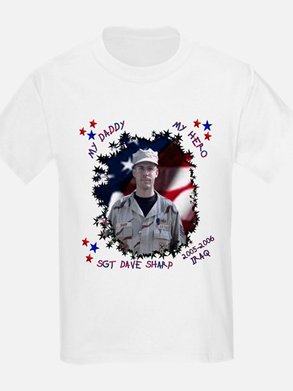 My Daddy My Hero Kids T-Shirt