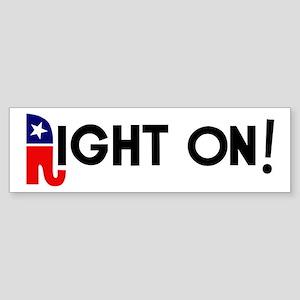 Right On! Sticker (Bumper)