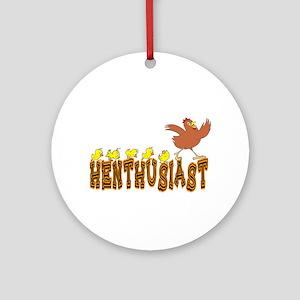Henthusiast Chicken & Hens Ornament (Round)
