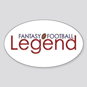 Fantasy Football Legend Sticker (Oval)