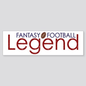 Fantasy Football Legend Sticker (Bumper)