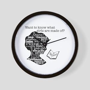 Read Jane Austen Wall Clock