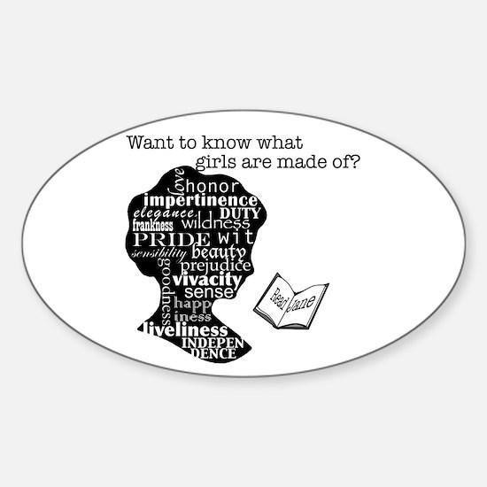 Read Jane Austen Sticker (Oval)