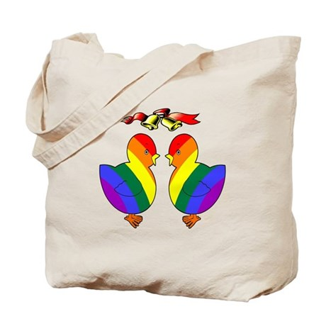 Gay Chicks Getting Married Tote Bag