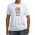 Hi Pig Bye Pig Fitted T-Shirt