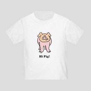 Hi Pig Bye Pig Toddler T-Shirt