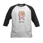 Hi Pig Bye Pig Kids Baseball Jersey