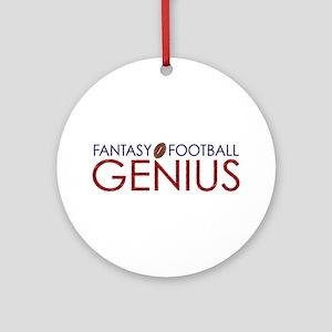 Fantasy Football Genius Ornament (Round)