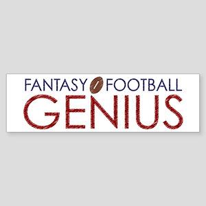 Fantasy Football Genius Sticker (Bumper)