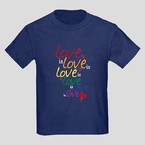 Love is Love (Gay Marriage) Kids Dark T-Shirt