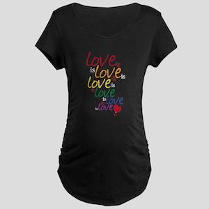 Love is Love (Gay Marriage) Maternity Dark T-Shirt
