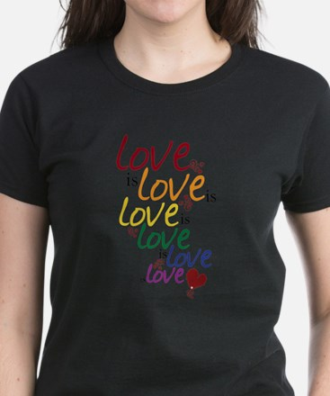 Love is Love (Gay Marriage) Women's Dark T-Shirt