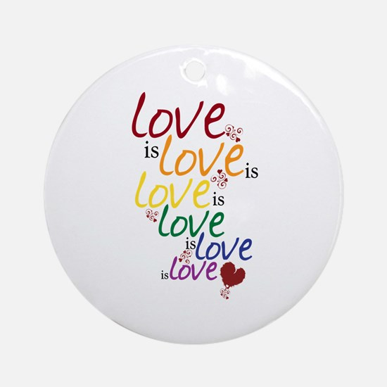 Love is Love (Gay Marriage) Ornament (Round)