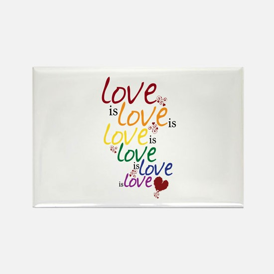 Love is Love (Gay Marriage) Rectangle Magnet (10 p