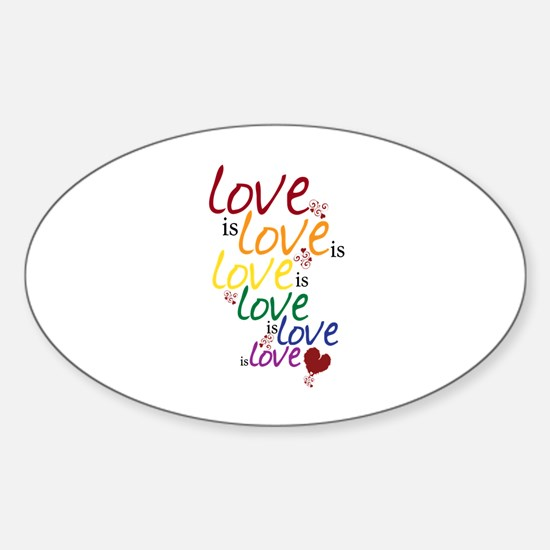 Love is Love (Gay Marriage) Sticker (Oval)
