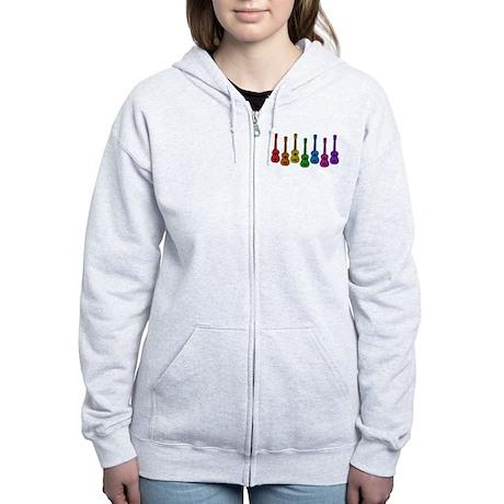 Ukulele Rainbow Women's Zip Hoodie