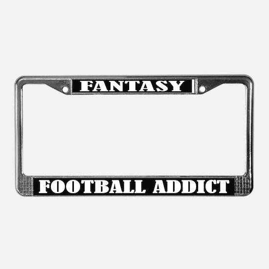 Fantasy Football Addict License Plate Frame