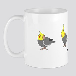 Gray Cockatiels Mug
