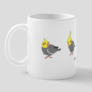 Gray Cockatiels Mug